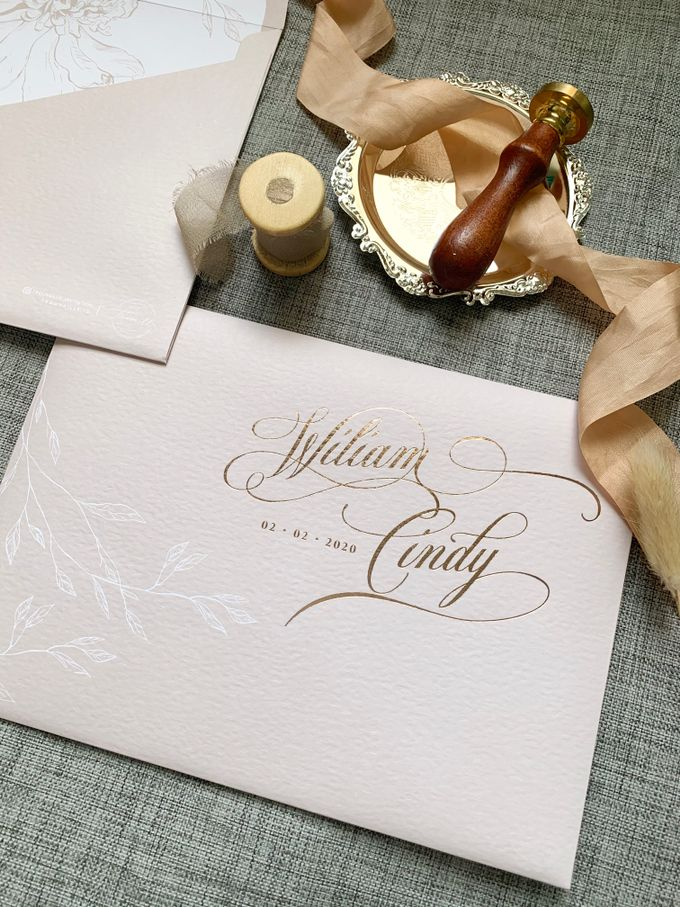 Blush Calligraphy by Trouvaille Invitation - 006