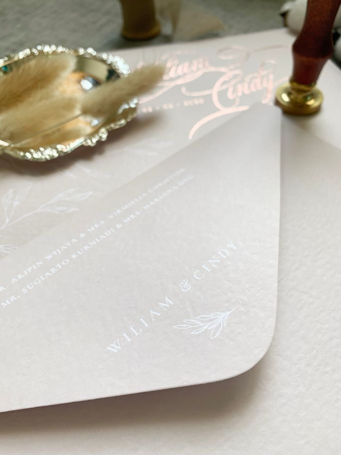 Blush Calligraphy by Trouvaille Invitation - 004