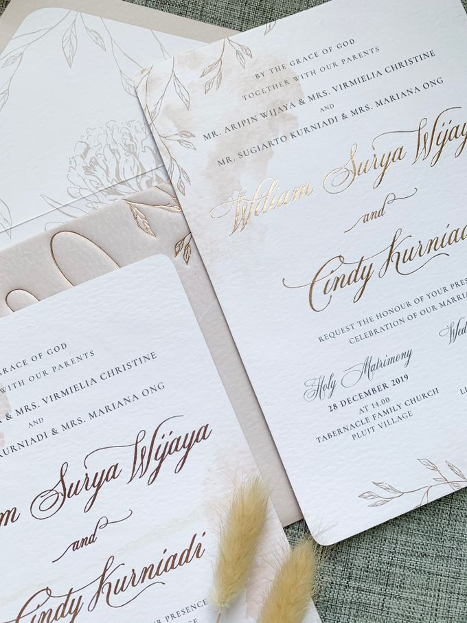 Blush Calligraphy by Trouvaille Invitation - 005