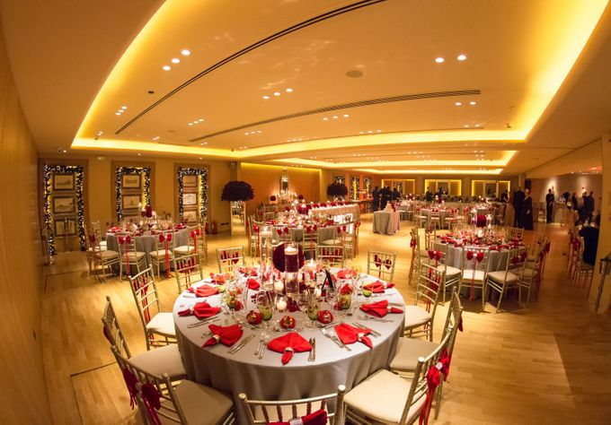 Luxury Christmas Red & Gold Wedding by Diamond Events - 015