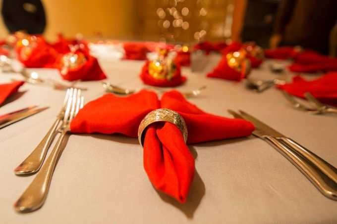 Luxury Christmas Red & Gold Wedding by Diamond Events - 016