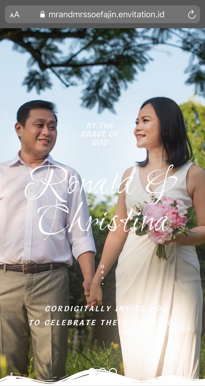 Ronald & Christina Wedding by Envitation Planner - 001
