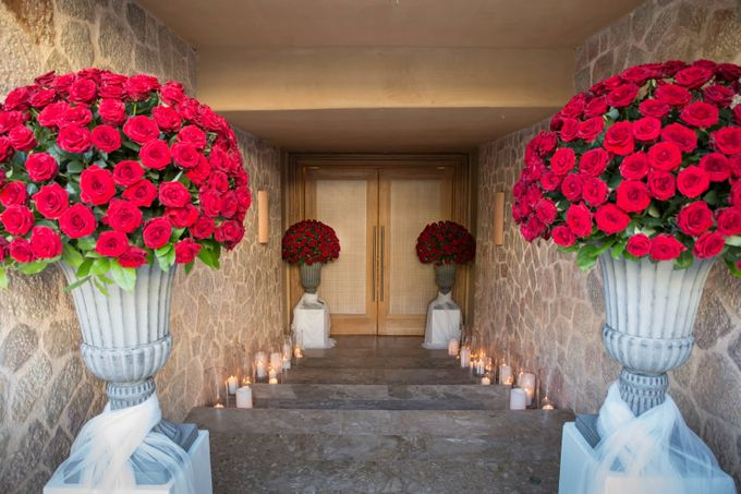 Luxury Christmas Red & Gold Wedding by Diamond Events - 018