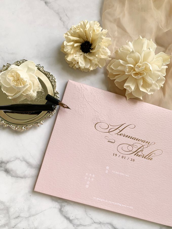 Tales of Peonies by Trouvaille Invitation - 002