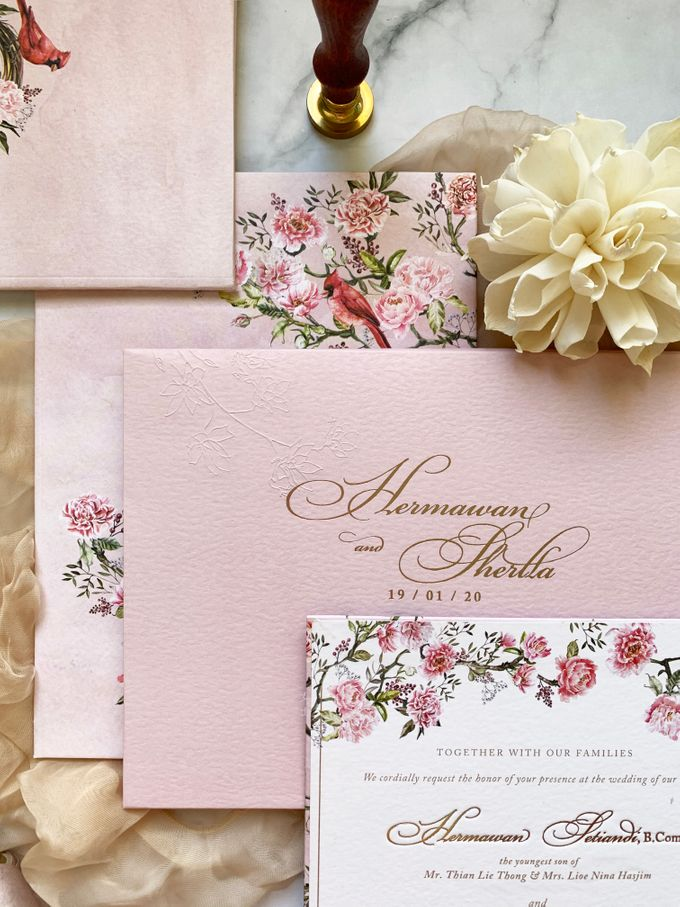 Tales of Peonies by Trouvaille Invitation - 006