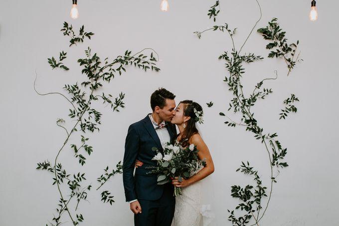 Botanical industrial intimate wedding by Eufloria - 001