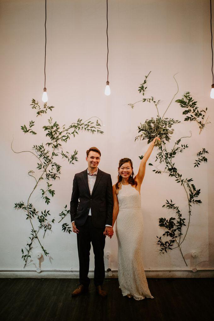 Botanical industrial intimate wedding by Eufloria - 002