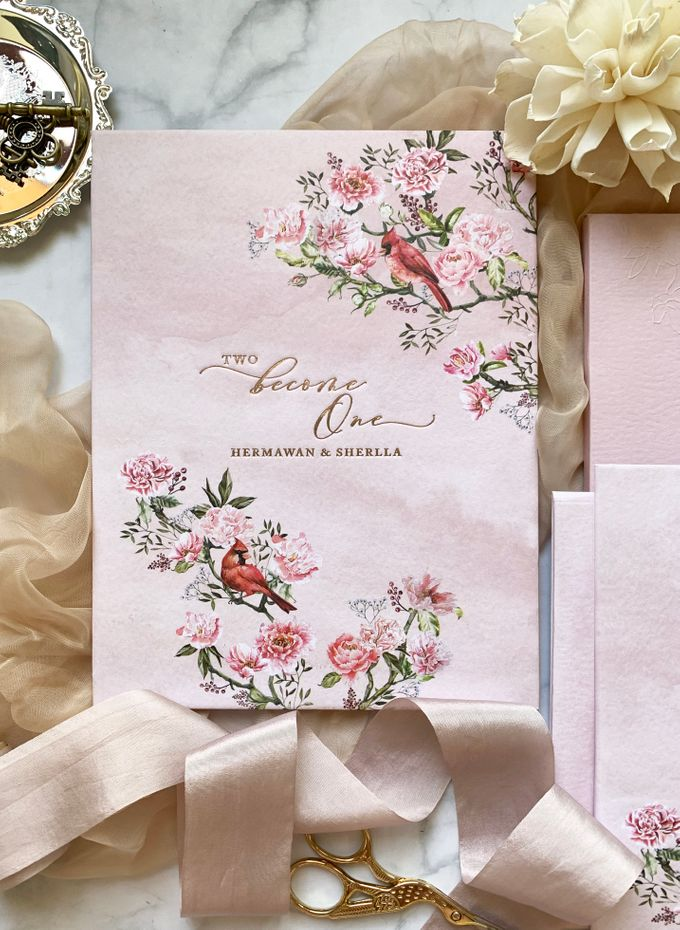 Tales of Peonies by Trouvaille Invitation - 001