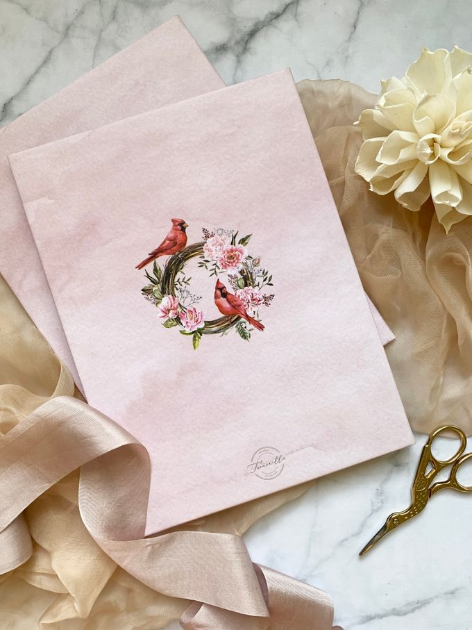 Tales of Peonies by Trouvaille Invitation - 007