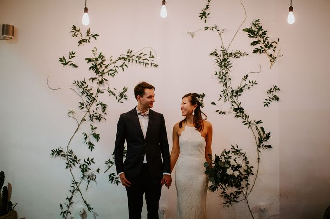 Botanical industrial intimate wedding by Eufloria - 003