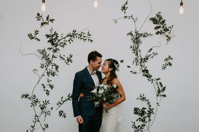 Botanical industrial intimate wedding by Eufloria - 016