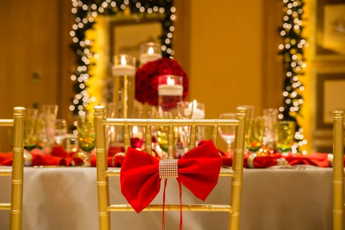 Luxury Christmas Red & Gold Wedding by Diamond Events - 019