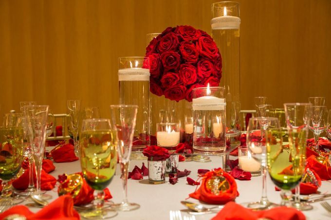 Luxury Christmas Red & Gold Wedding by Diamond Events - 005