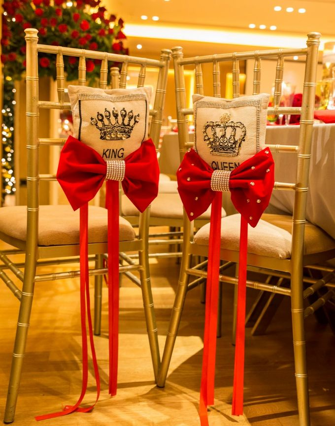 Luxury Christmas Red & Gold Wedding by Diamond Events - 021