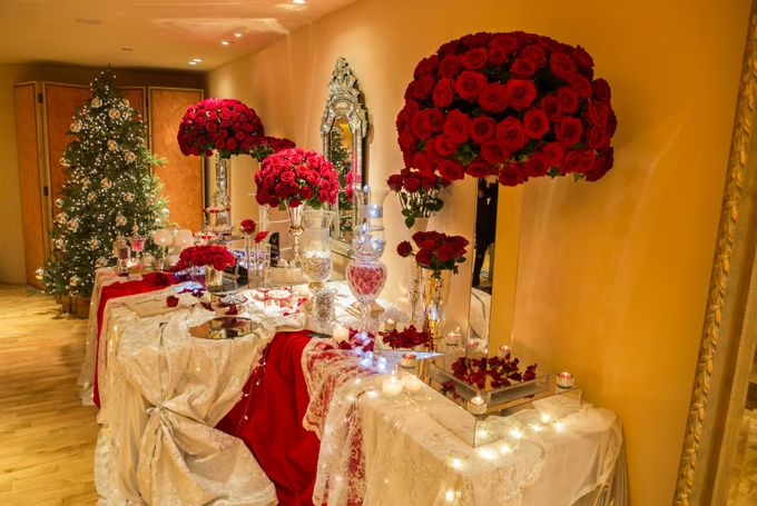 Luxury Christmas Red & Gold Wedding by Diamond Events - 023