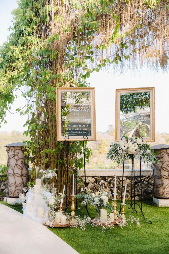 Alfresco greenery dinner reception at Opia Bali by Silverdust Decoration - 014