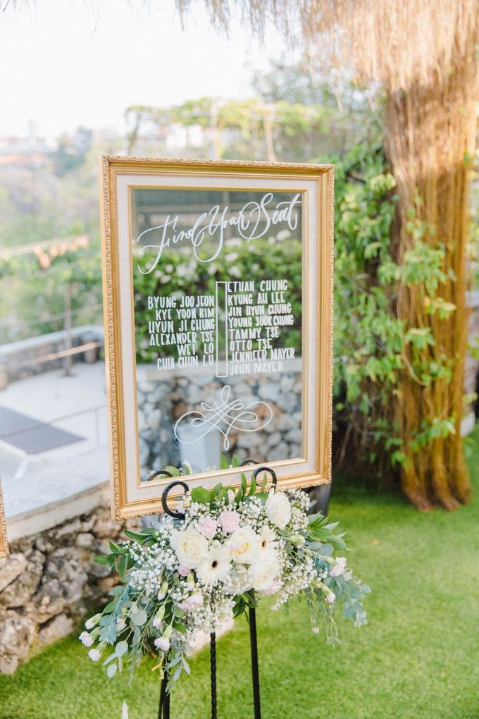 Alfresco greenery dinner reception at Opia Bali by Silverdust Decoration - 015