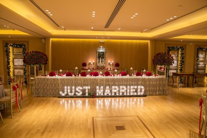 Luxury Christmas Red & Gold Wedding by Diamond Events - 025