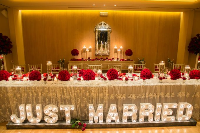 Luxury Christmas Red & Gold Wedding by Diamond Events - 008