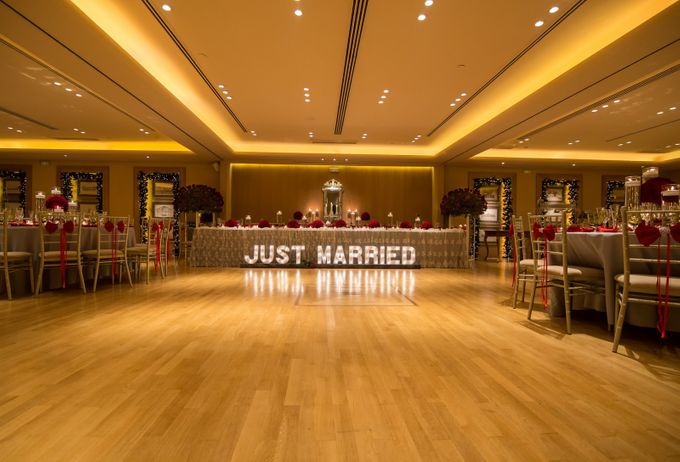 Luxury Christmas Red & Gold Wedding by Diamond Events - 026