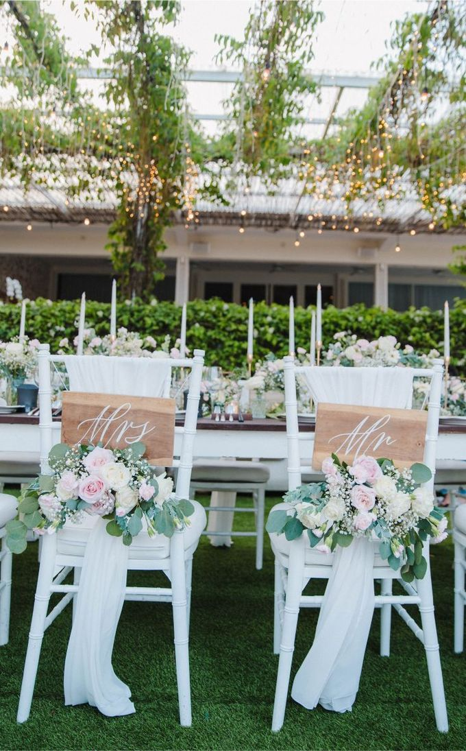 Alfresco greenery dinner reception at Opia Bali by Silverdust Decoration - 001