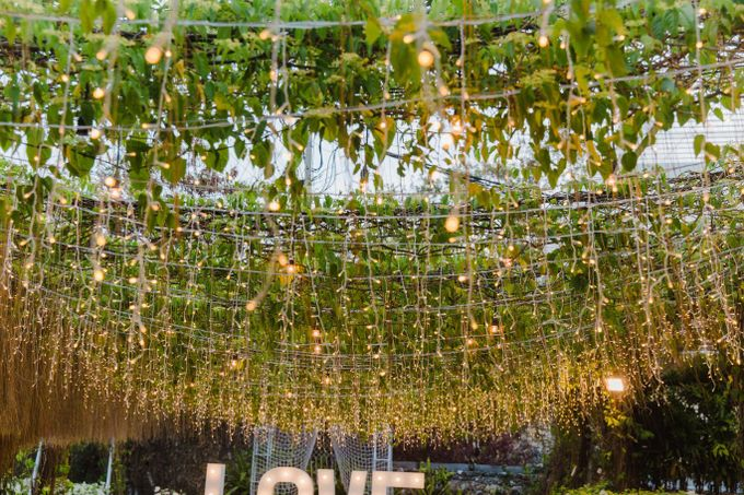 Alfresco greenery dinner reception at Opia Bali by Silverdust Decoration - 004