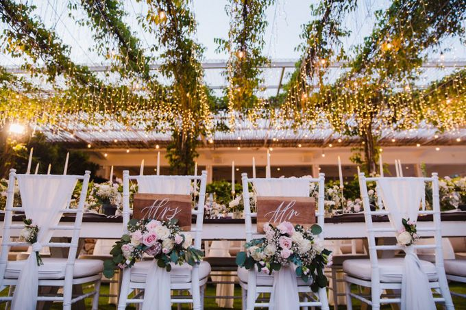 Alfresco greenery dinner reception at Opia Bali by Silverdust Decoration - 006