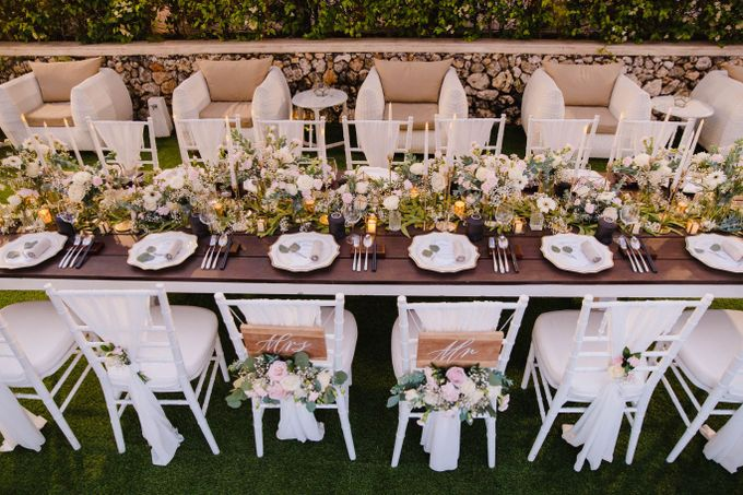 Alfresco greenery dinner reception at Opia Bali by Silverdust Decoration - 007