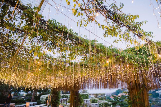 Alfresco greenery dinner reception at Opia Bali by Silverdust Decoration - 009