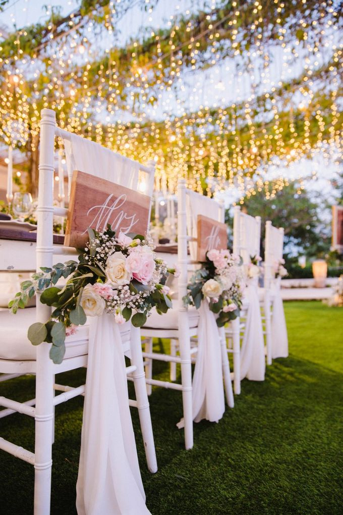 Alfresco greenery dinner reception at Opia Bali by Silverdust Decoration - 012