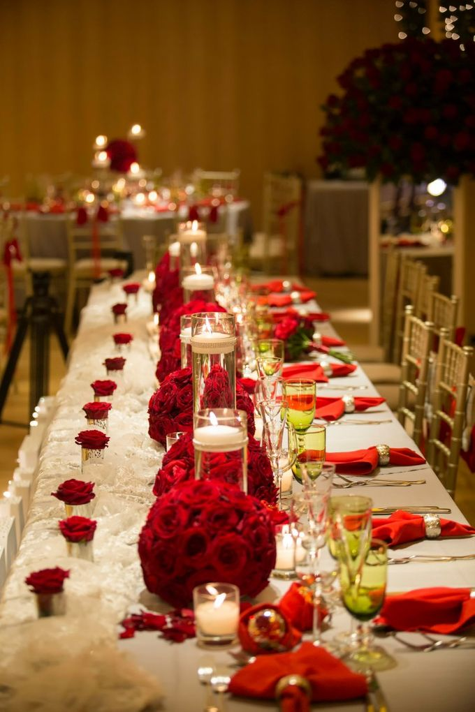 Luxury Christmas Red & Gold Wedding by Diamond Events - 027
