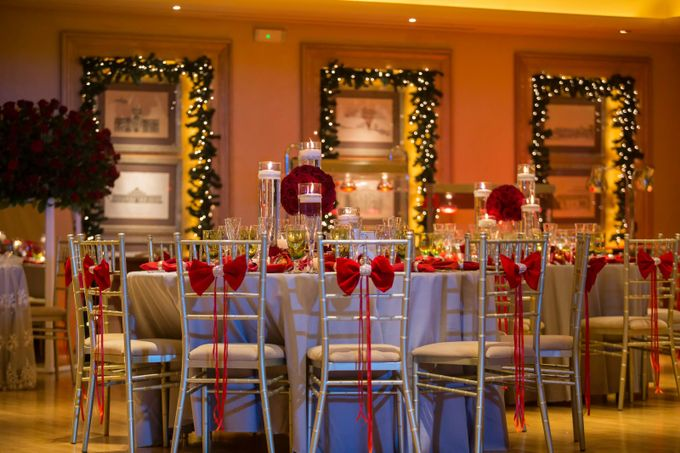 Luxury Christmas Red & Gold Wedding by Diamond Events - 030