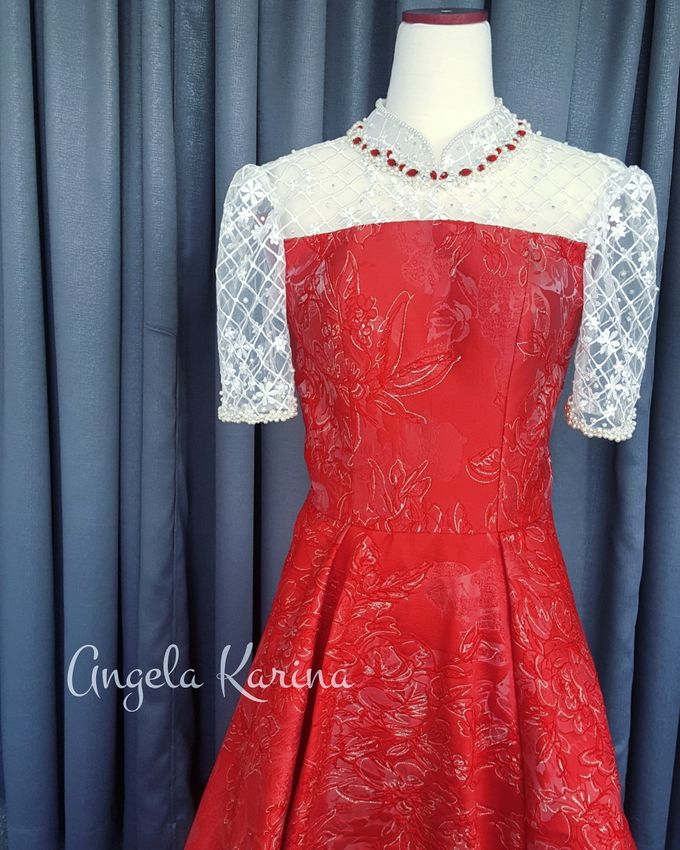 Cheongsam Gown For Mother Of The Groom At Church by Angela Karina - 001