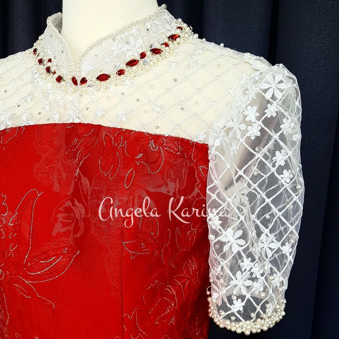 Cheongsam Gown For Mother Of The Groom At Church by Angela Karina - 002