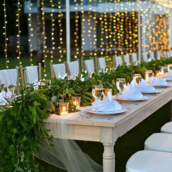 Only Greens And Sparkling Twingkle Lights by magical blossoms - 003