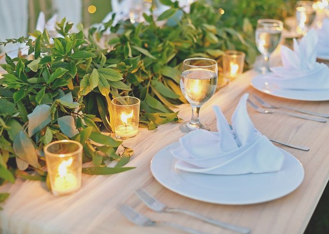 Only Greens And Sparkling Twingkle Lights by magical blossoms - 007