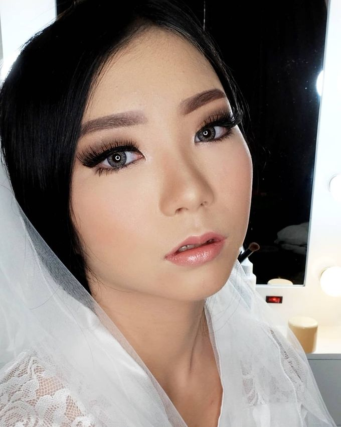 Linda (Wedding Airbrush Makeup - Monolid) by MarisaFe MUA - 002