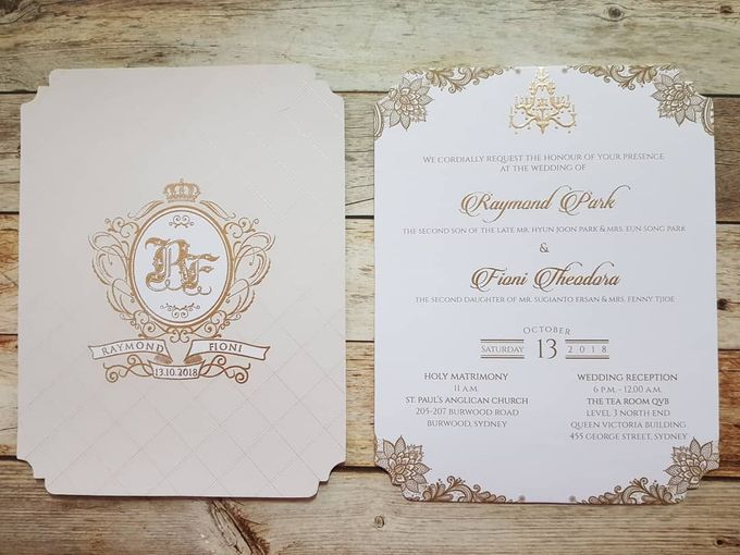 1 Board Press Invitation With Envelope by Red Card - 001
