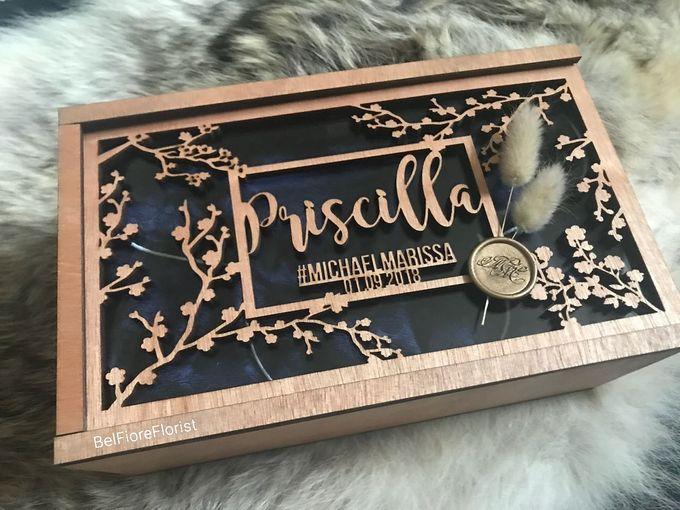 Bridesmaid Carving Box by Belfiore Florist - 002