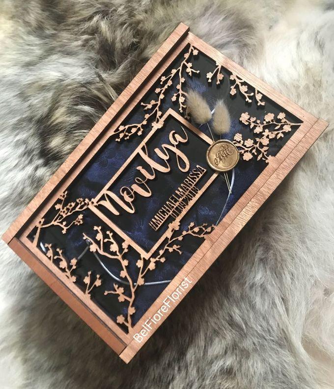 Bridesmaid Carving Box by Belfiore Florist - 003