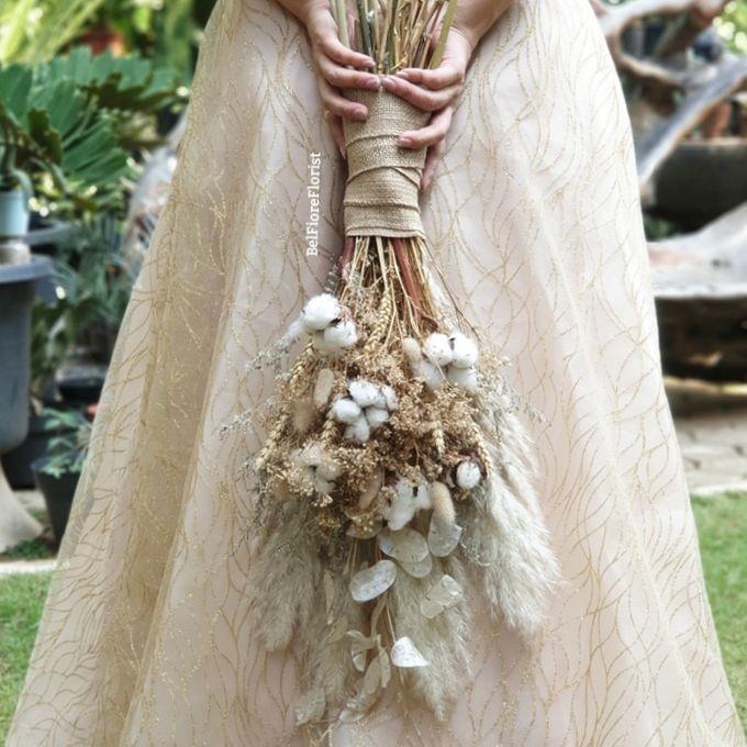 Dried Wedding Bouquet by Belfiore Florist - 003