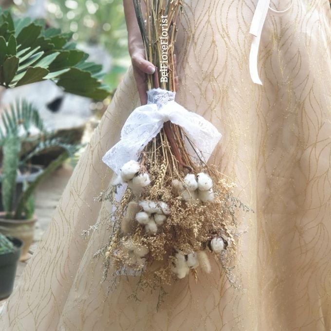 Dried Wedding Bouquet by Belfiore Florist - 001