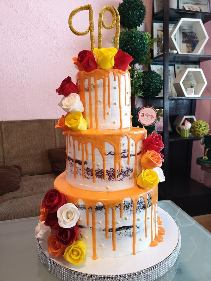 Customized Wedding Naked Cake Rustic Themed Cake by Crumbs Cake Art Bakeshop - 001