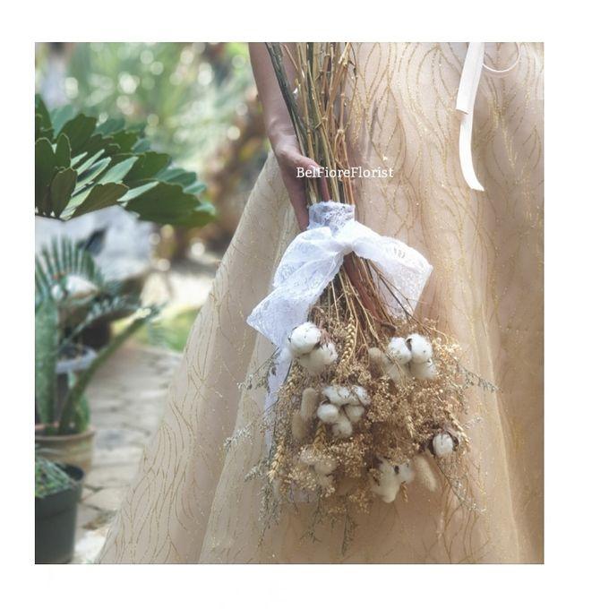 Dried Wedding Bouquet by Belfiore Florist - 004