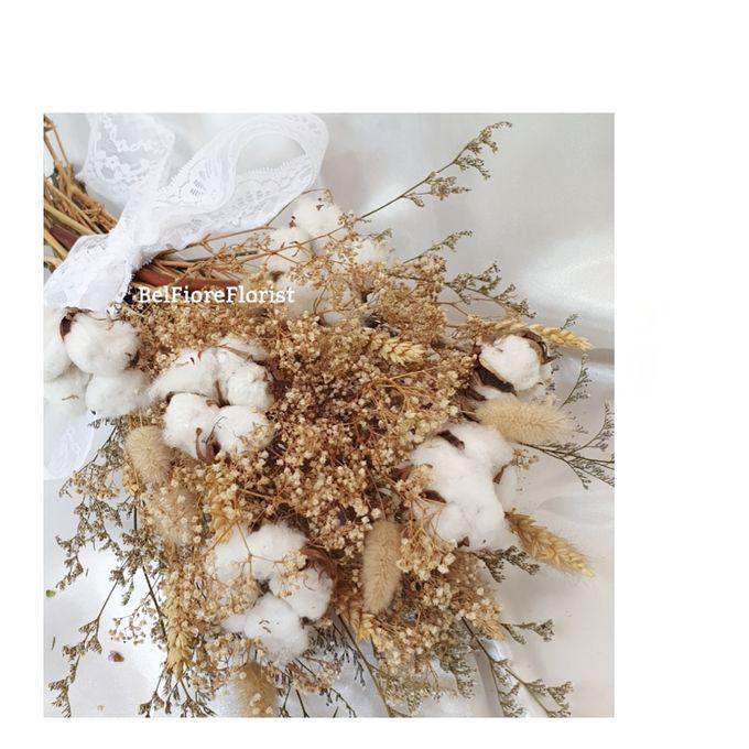Dried Wedding Bouquet by Belfiore Florist - 005