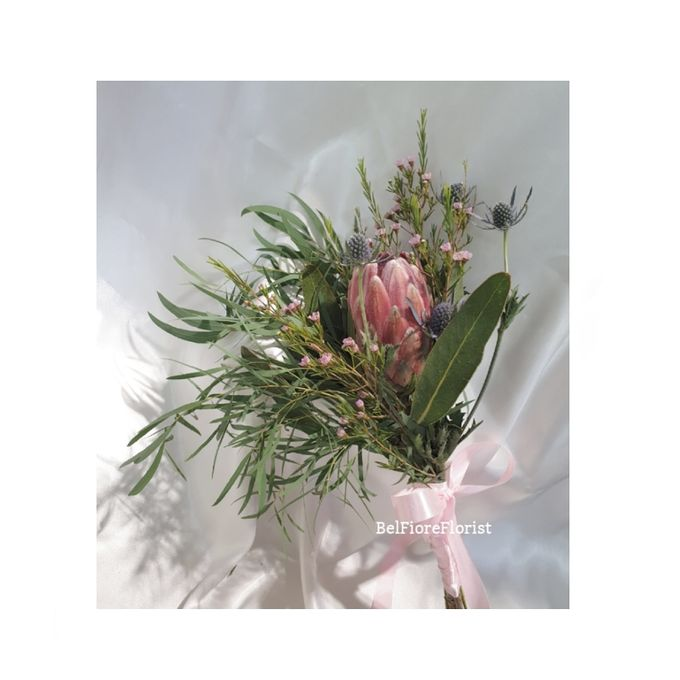 Protea Wedding Bouquet by Belfiore Florist - 004
