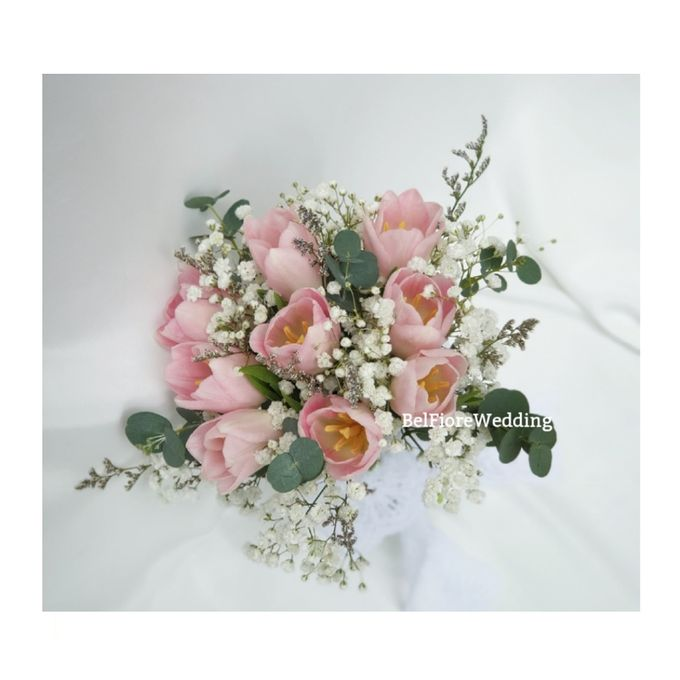 Tulip Wedding Bouquet by Belfiore Florist - 003