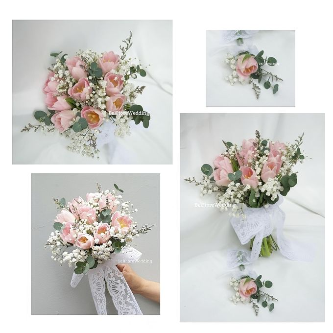 Tulip Wedding Bouquet by Belfiore Florist - 002