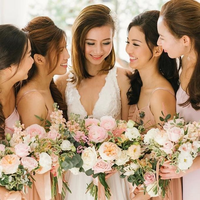 Bride & Bridesmaids by Makeup Entourage by Ethereal - 001