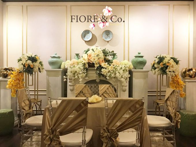 Golden Wedding Anniversary Decoration by FIORE & Co. Decoration - 002